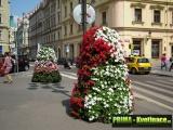 Prima-květináče květinová vertikální pyramida, květinové věže do měst a obcí, květinová sestava – moderní výzdoba veřejných prostranství, patrový květináč samozavlažovací plastové venkovní závěsné