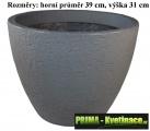 Mrazuvzdorný květináč imitace betonu Ø39cm