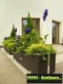 Prima-květináče velký mrazuvzdorný truhlík z umělého ratanu, venkovní ratanový květináč na terasu, plastové ratanové truhlíky samozavlažovací plastové venkovní závěsné