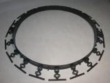 příklad kruhu, který se vytvoří kolem stromu (doporučujeme průměr 1m, spotřeba 3-4ks obrubníků + 12 hřebů)