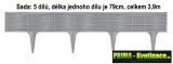 Plastový obrubník, palisáda 3,9m IBWI šedá