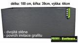 velký plastový truhlík Eda 100x39x44cm antracit