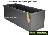 velký plastový truhlík Eda 80x29x29cm antracit