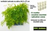 Vertikální zahrada na stěnu Minigarden bílá 64,5 x 57 cm
