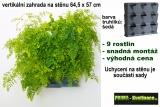 Vertikální květináč na stěnu Minigarden šedá 64,5 x 57 cm