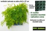 Vertikální květináč na stěnu Minigarden zelená 64,5 x 57 cm