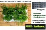 Kaskádový květináč na jahody Minigarden šedá 129 x 57 cm