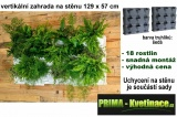Vertikální zahrada na stěnu Minigarden šedá 129 x 57 cm