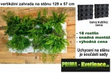 Kaskádové zahrady na stěnu Minigarden černá 129 x 57 cm