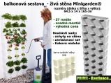 Vertikální zahrada Minigarden bílá 64,5 x 165 cm