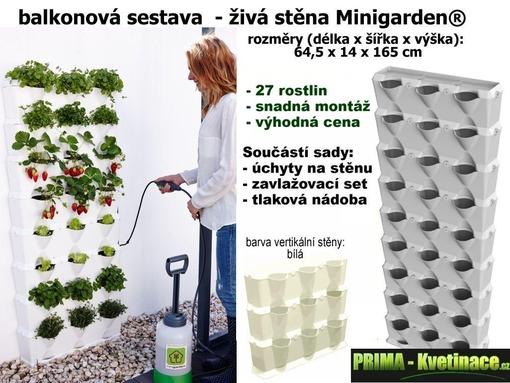 Minigarden vertikální květináče, kaskádové venkovní plastové květináče, zahrada na balko