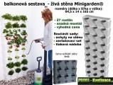 Vertikální zahrada Minigardem šedá 64,5 x 165 cm