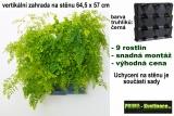 Vertikální květináč na stěnu Minigarden černá 64,5 x 57 cm
