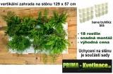 Vertikální zahrada na stěnu Minigarden bílá 129 x 57 cm