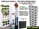 Vertikální zahrada Minigardem černá 64,5 x 165 cm