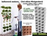 Prima-květináče vertikální květináče, kaskádový květináč na jahody, zelené stěny Minigarden samozavlažovací plastové venkovní závěsné