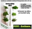 Kaskádový květináč na stěnu Minigarden bílá 28 x 57 cm