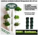 Kaskádový květináč na stěnu Minigarden zelená 28 x 57 cm