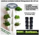 Prima-květináče vertikální květináče, kaskádový květináč na jahody, zelené stěny, vertikální pěstování Minigarden samozavlažovací plastové venkovní závěsné