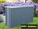 Prima-květináče vysoký ratanový květináč samozavlažovací plastové venkovní závěsné