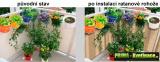 Prima-květináče ratanové balkonové záclony, ratanové rohože, clony na balkonové zábradlí, ratanová zástěna na balkon, zastínění balkonu samozavlažovací plastové venkovní závěsné