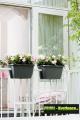 Prima-květináče kvalitní květináče a truhlíky na zábradlí a balkóny, závěsný květináč na balkon ELHO samozavlažovací plastové venkovní závěsné