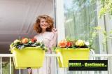 Prima-květináče kvalitní květináče a truhlíky na zábradlí a balkóny, květináč na zábradlí ELHO samozavlažovací plastové venkovní závěsné