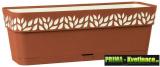 Samozavlažovací truhlík do oken 50 cm terakota