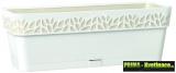 Zavlažovací truhlík do oken 50 cm bílý