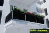 Prima-květináče Balkonové záclony set, ratanové rohože, clony na balkonové zábradlí, ratanová zástěna na balkon, zastínění balkonu samozavlažovací plastové venkovní závěsné