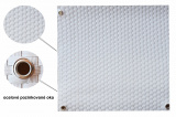 Balkonové záclony z ratanu set s oky Ratmari, výška 100 cm, délka 3 m, barva bílá