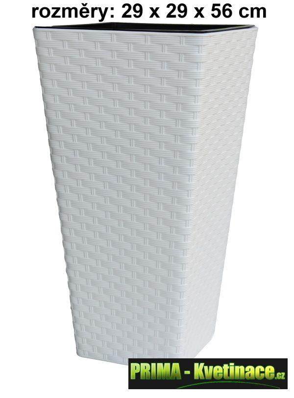 Prima-květináče Plastový obal na květináče Rattana – dekorativní vysoký obal na květináče z umělého ratanu samozavlažovací plastové venkovní závěsné