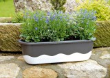 Prima-květináče Samozavlažovací truhlík Mareta 80 Plastia samozavlažovací plastové venkovní závěsné