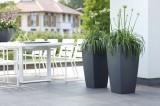 Prima-květináče Květináče ELHO Pure Soft Square High – moderní, venkovní, hranaté, velké, vysoké, plastové obaly na květináče, květináče, vonkajšie, veľké, kvetináče, črepníky samozavlažovací plastové venkovní závěsné