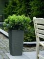 Prima-květináče Samozavlažovací květináče Cubico Cottage 40 - vysoké, venkovní, hranaté květináče, vonkajšie, samozavlažovacie črepníky Lechuza samozavlažovací plastové venkovní závěsné