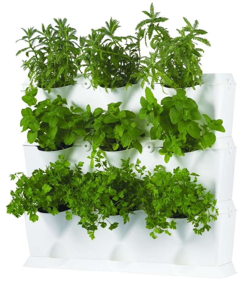 vertikální květináče Minigarden na pěstování bylin, květin a zeleniny, vertikální zahrada, květníky, mini zahrada, květinové stěny, živé stěny